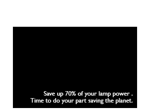No Source Detected 30% Lamp Power
